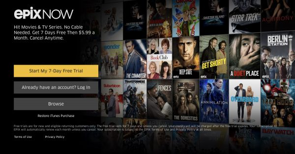 Viewers No Longer Need a Cable Subscription to Stream Epix