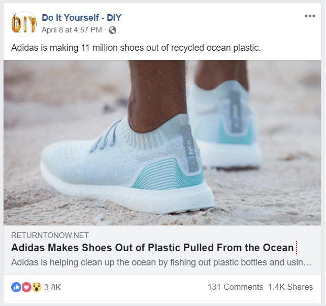 Adidas Facebook post