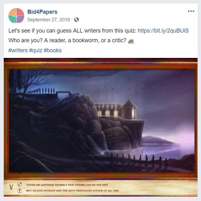 Bid4Papers Facebook post