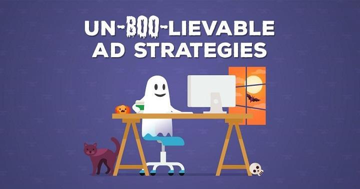 Halloween-themed display ad