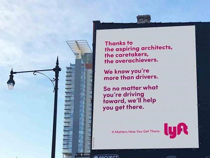Lyft billboard