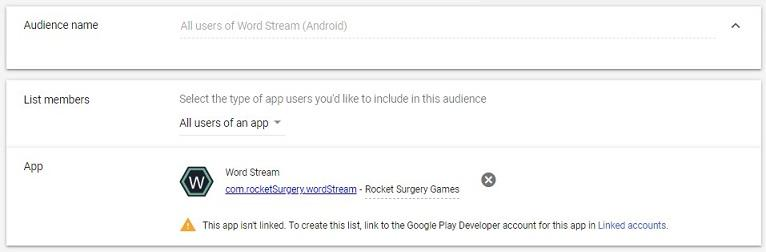 Google Ads audience exclusions by app