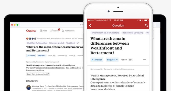 quora ads mobile vs desktop