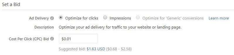 setting a bid view in Quora