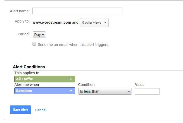 custom Google Ads alerts