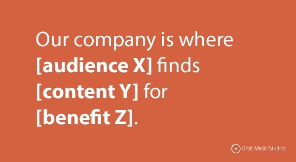 content marketing mission statement template