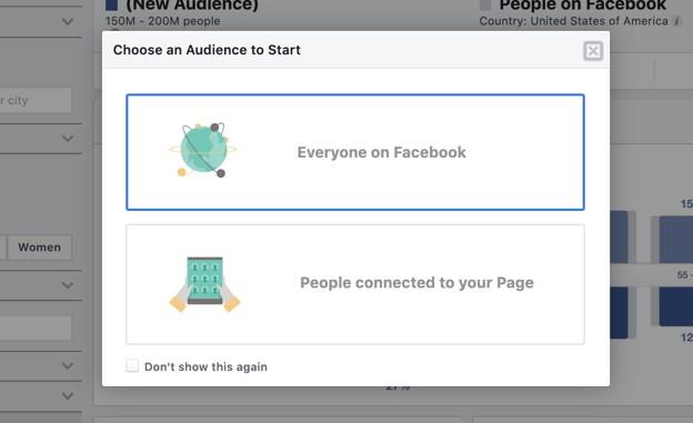 Facebook advertising's new audience options