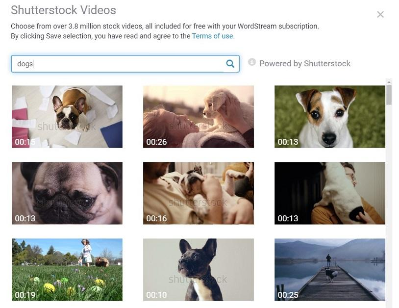 example video clips in WordStream Advisor