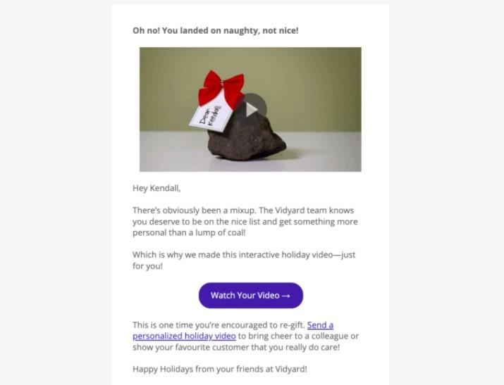 personalized video email example