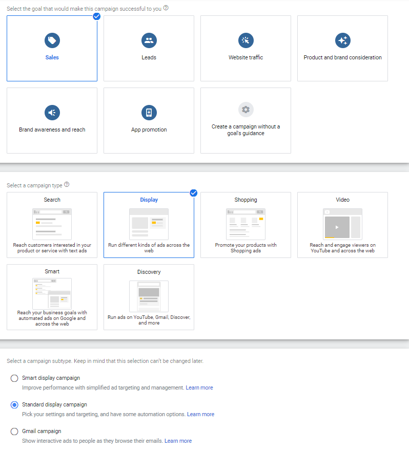 how to set up dynamic display ads setting for google dynamic remarketing campaign