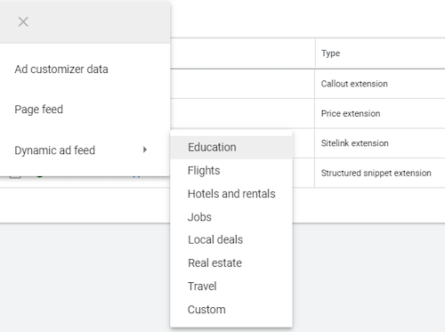 how to set up dynamic display campaign feed choose business type before upload