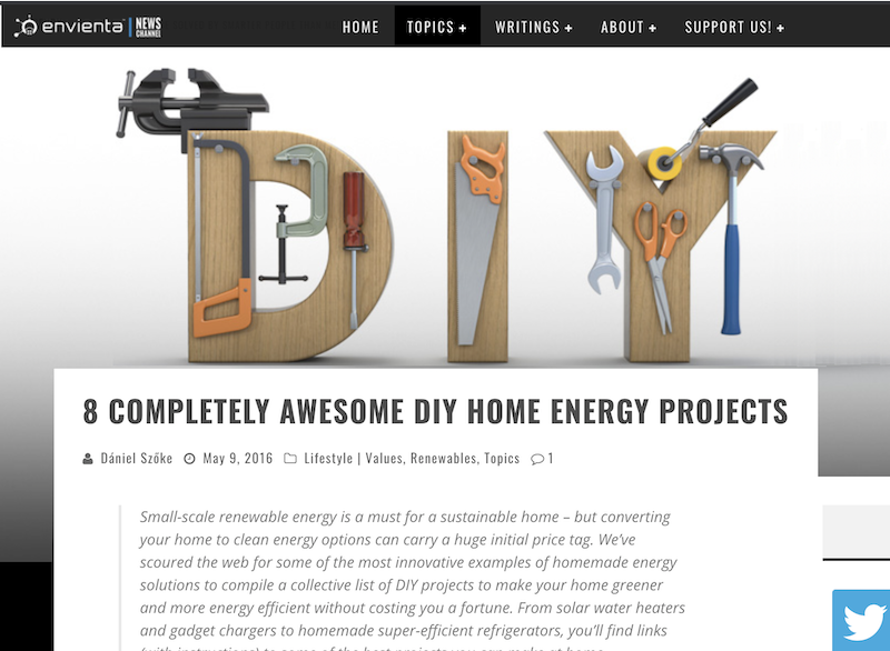 october marketing ideas DIY sustainable energy projects