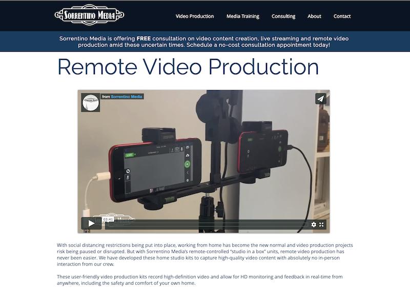 remote at home diy videos for marketing sorrentino media