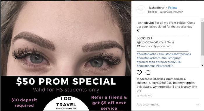 April marketing ideas prom special