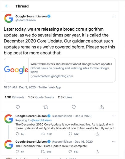 killer seo strategy 2021 core algorithm update