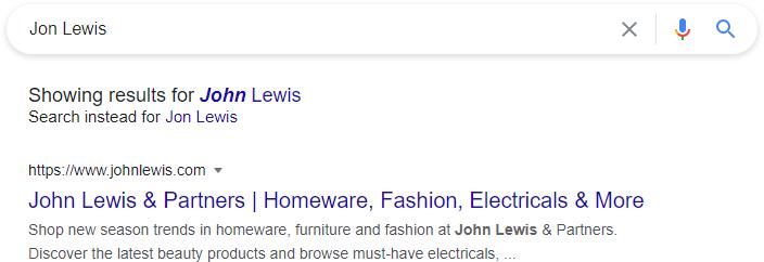 John Lewis Search Results