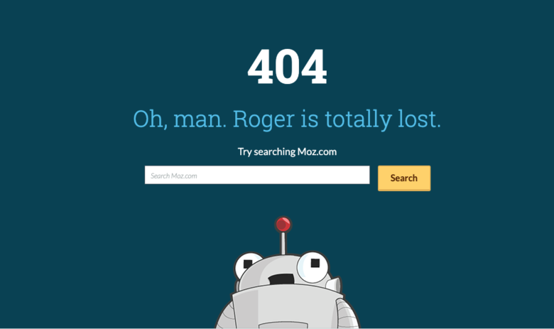 Moz's 404 page.