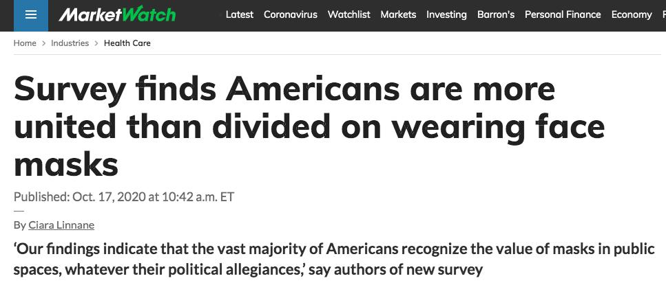 MarketWatch headline about survey.