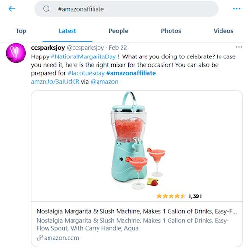 affiliate marketing amazon hashtag