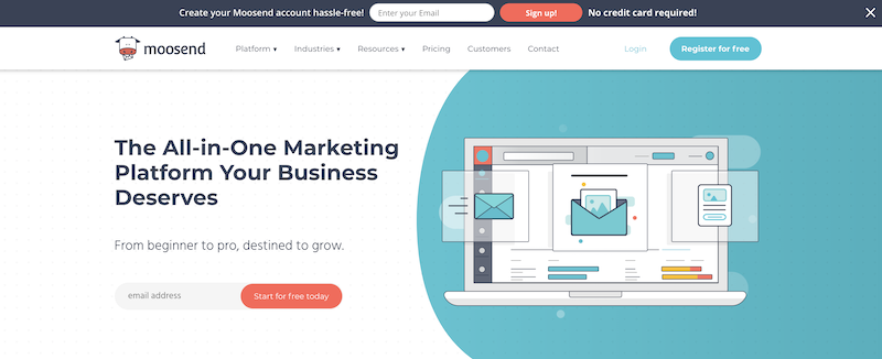 affordable marketing automation moosend