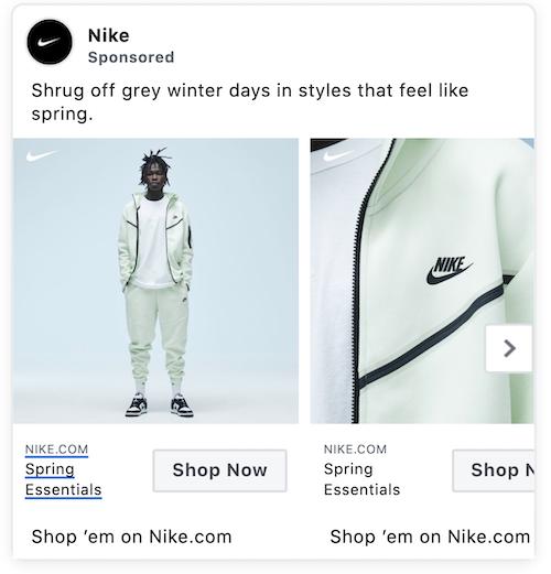 facebook dynamic ads nike
