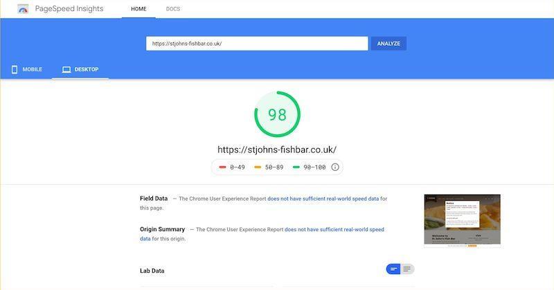 improve core web vitals header