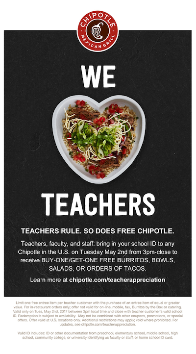 may marketing ideas teacher appreciation