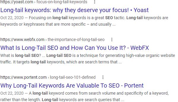 Google SERP for