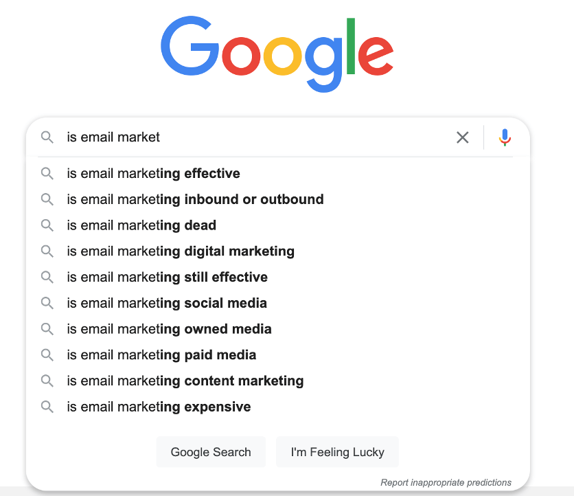 email copywriting tips search for is email marketing effective