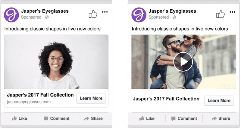 facebook a/b testing with creative as variable