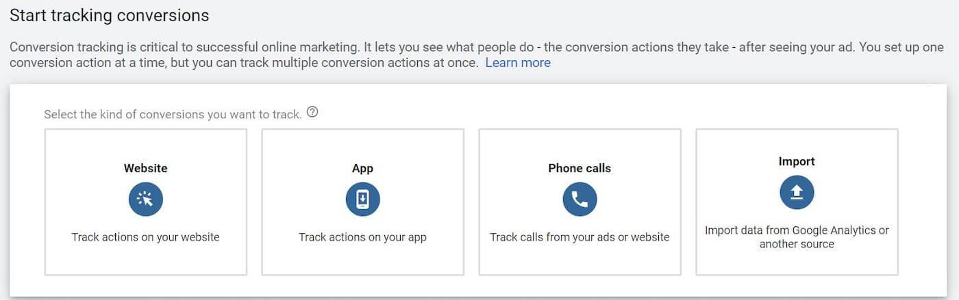 conversion sources for google ads conversion tracking