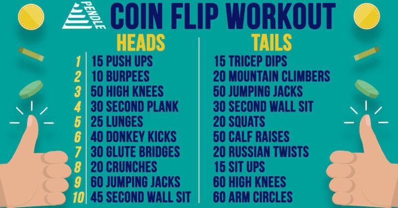 june marketing ideas coin flip workout