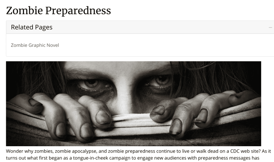 truly exceptional content marketing examples cdc zombie apocalypse guide