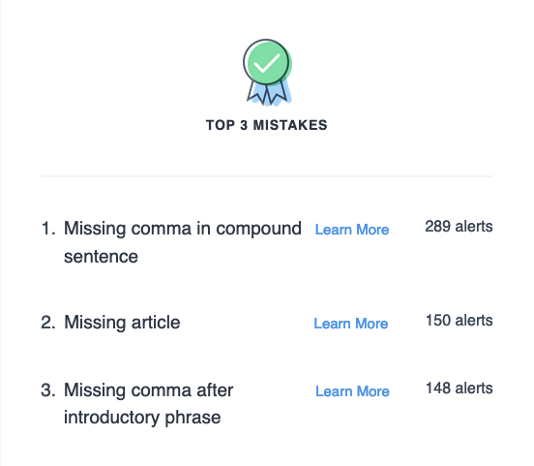 truly exceptional content marketing example grammarly email pointing out mistakes