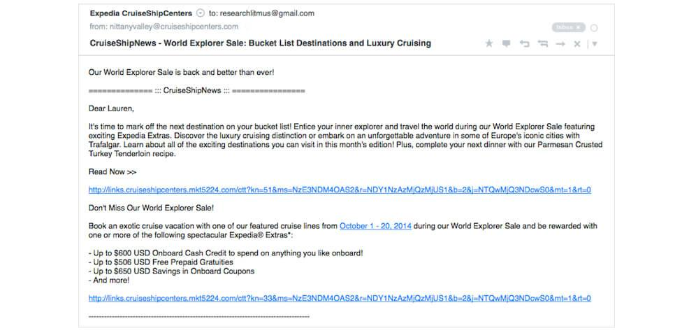b2b marketing strategies example of plain text email