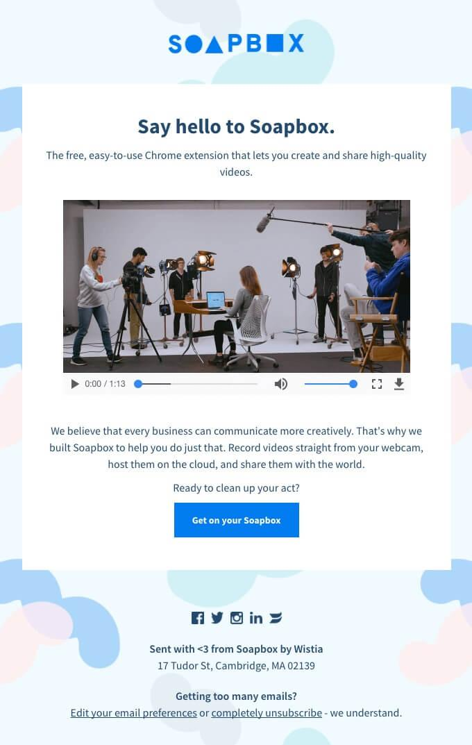 b2b marketing strategies an email wiith video