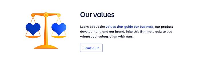 asana company core values quiz for job applicants