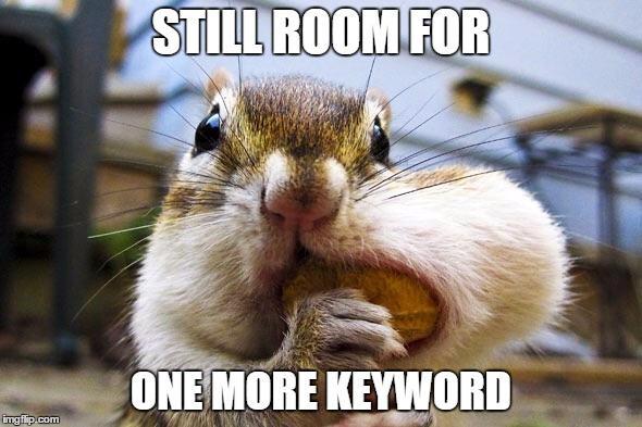 seo readability tips keyword stuffing hamster meme
