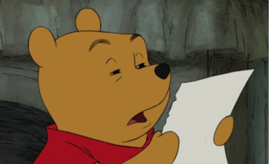 seo readability tips winnie the pooh is confused with over-formatted writing