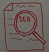 Illustration of a magnifying glass hovering over the word