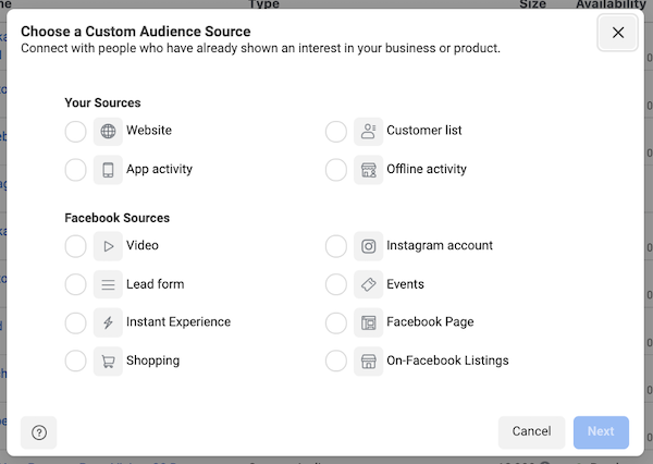 facebook ad targeting in ios 14 privacy first world: custom audience setup in ads manager
