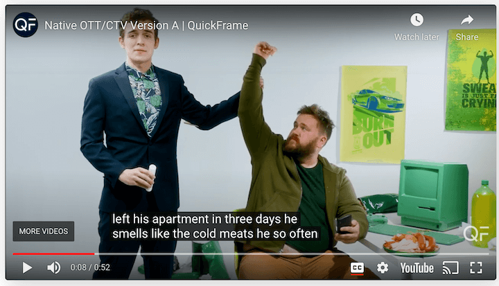 example of an OTT ad